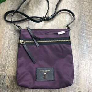 NWT Marc Jacobs Purple Nylon Crossbody Purse